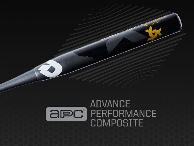 Graphic showing the use of Advance Performance Composite material in bat