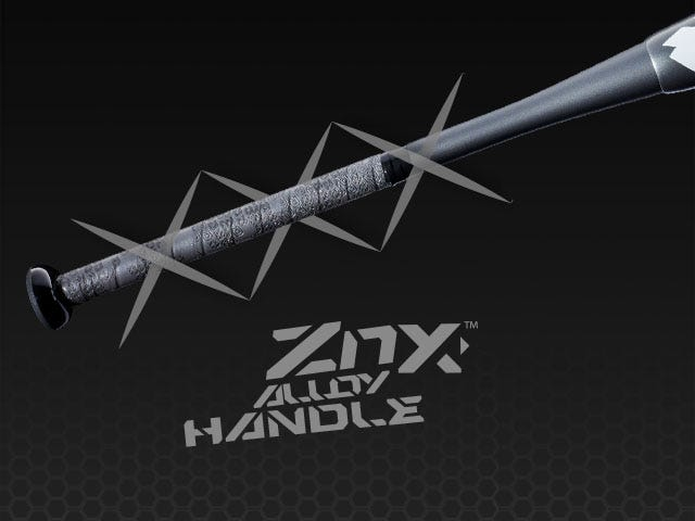 Close up graphic of ZnX alloy handle
