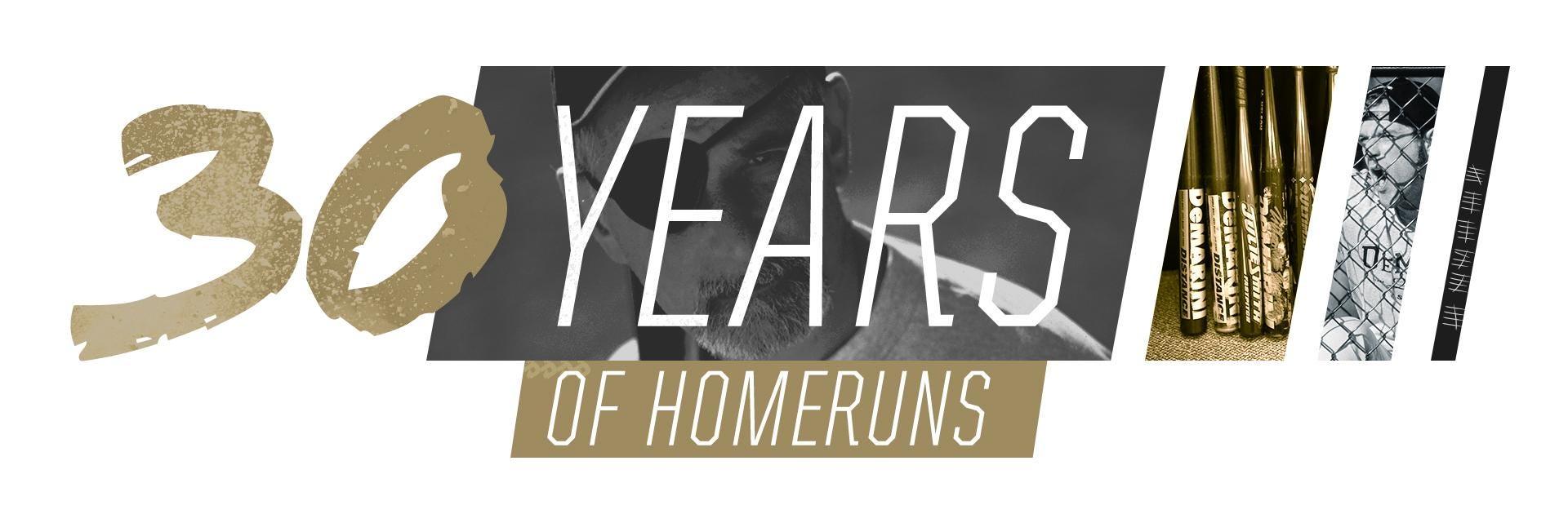 30 years of homeruns with DeMarini Bats