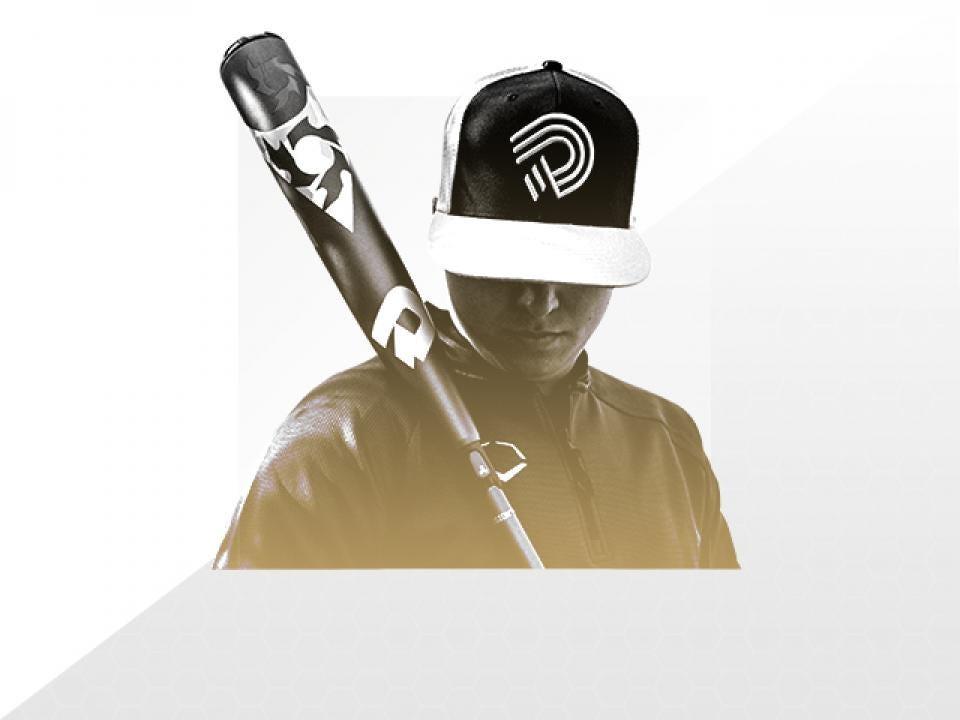 Baseball Lineup - Player holding bat
